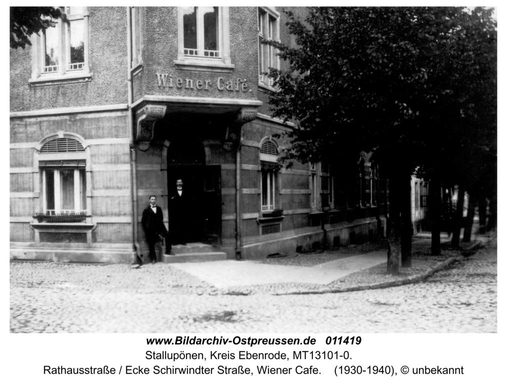 Stallupönen, Rathausstraße / Ecke Schirwindter Straße, Wiener Cafe