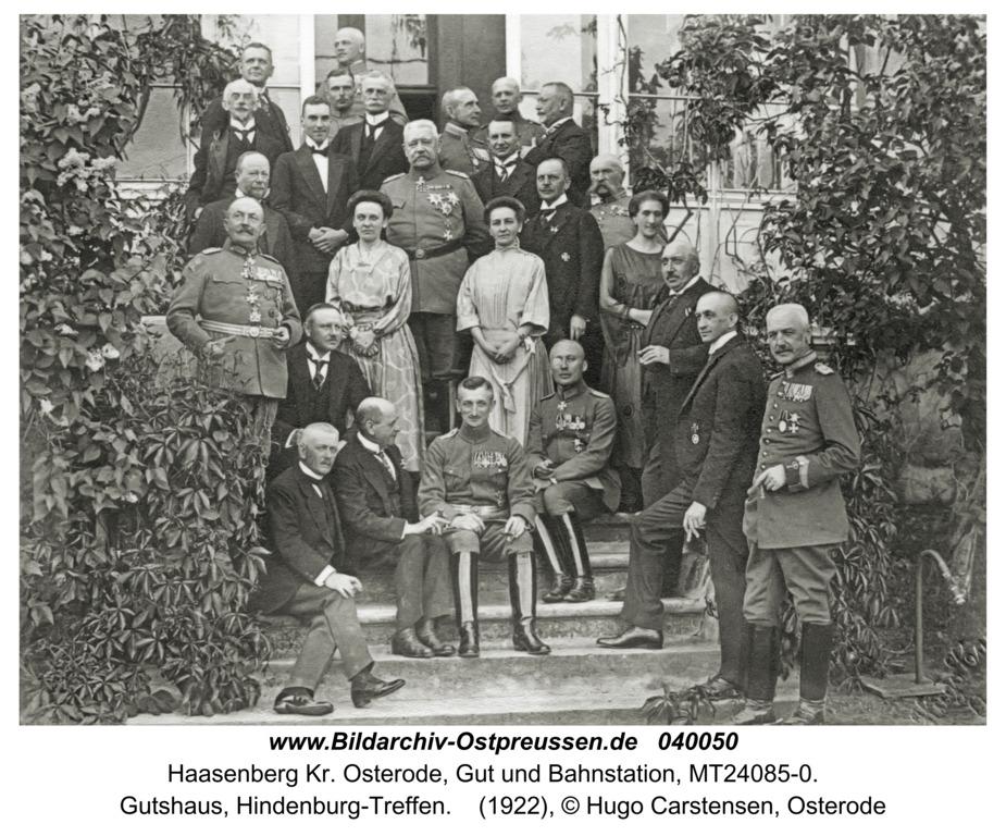 Haasenberg, Gutshaus, Hindenburg-Treffen