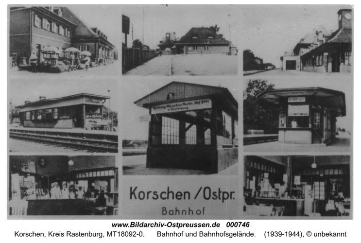 Korschen, Bahnhof und Bahnhofsgelände