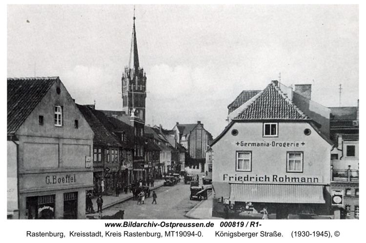 Rastenburg, Königsberger Straße