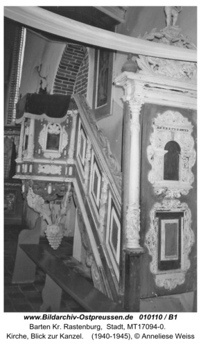 Barten, Kirche, Blick zur Kanzel
