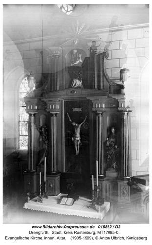 Drengfurt, evangelische Kirche, innen, Altar
