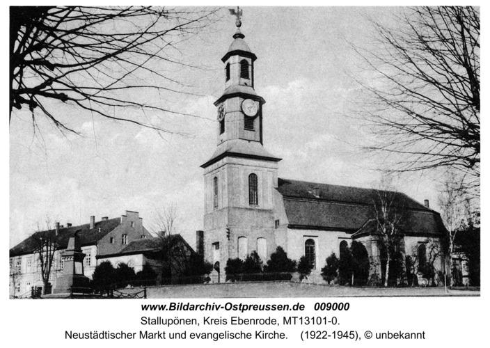 Stallupönen, Neustädtischer Markt, evangelische Kirche