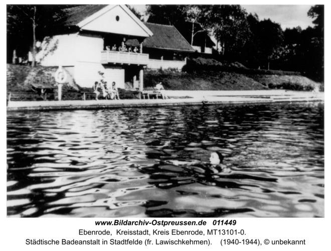 Ebenrode, Städtische Badeanstalt in Stadtfelde (fr. Lawischkehmen)