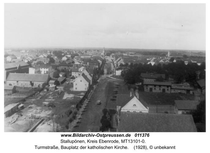 Stallupönen, Turmstraße, Bauplatz der katholischen Kirche