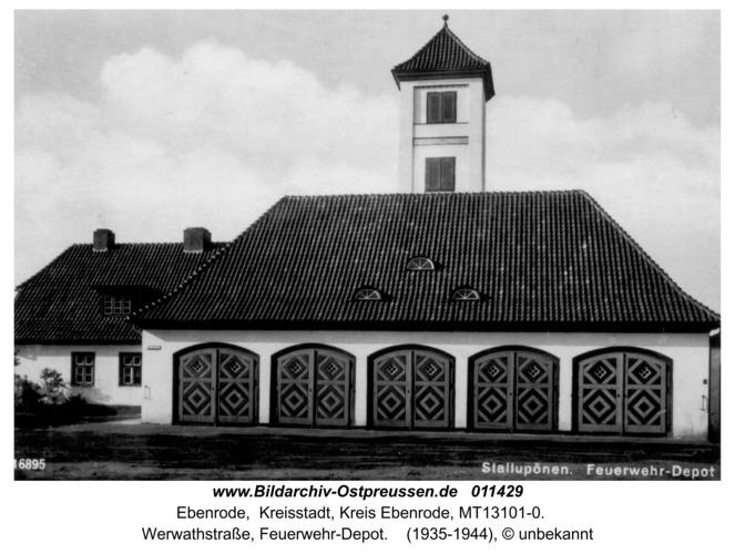 Ebenrode, Werwathstraße, Feuerwehr-Depot