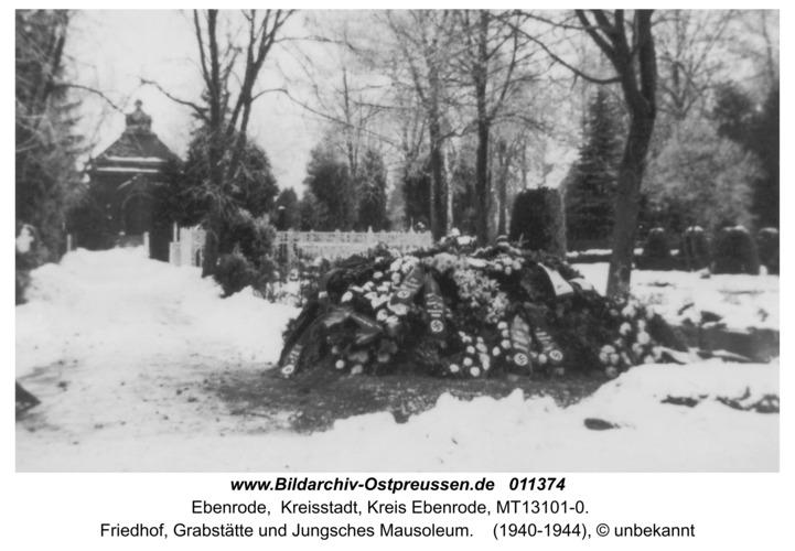 Ebenrode, Friedhof, Grabstätte und Jungsches Mausoleum