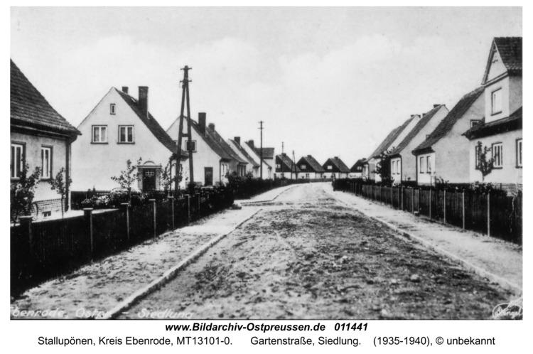 Ebenrode, Gartenstraße, Siedlung