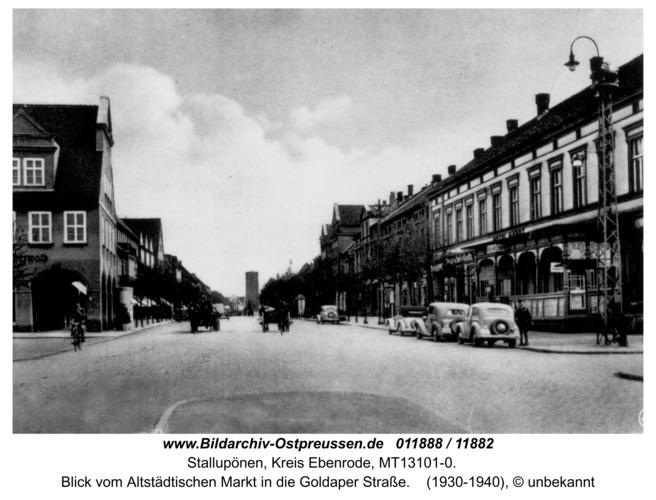 Stallupönen, Blick vom Altstädtischen Markt in die Goldaper Straße