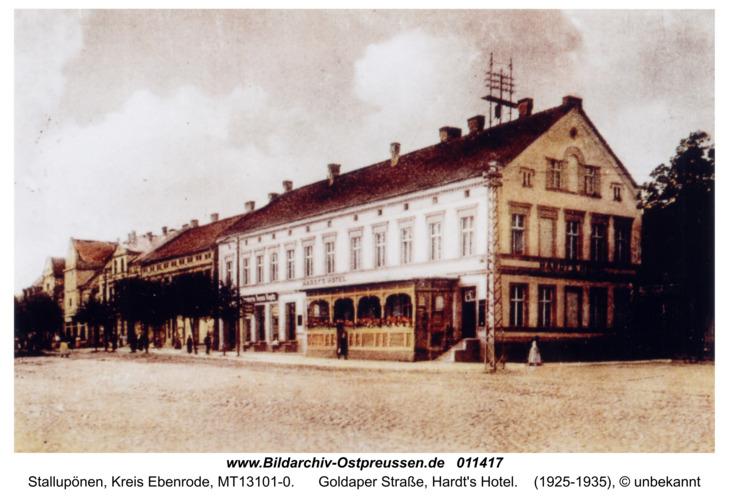 Stallupönen, Goldaper Straße, Hardt's Hotel