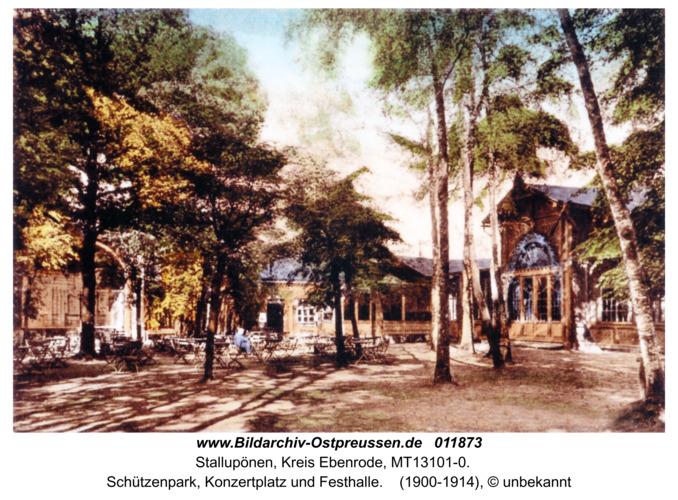 Stallupönen, Schützenpark, Konzertplatz und Festhalle