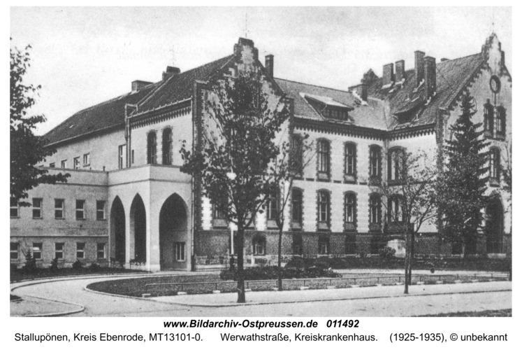 Stallupönen, Werwathstraße, Kreiskrankenhaus