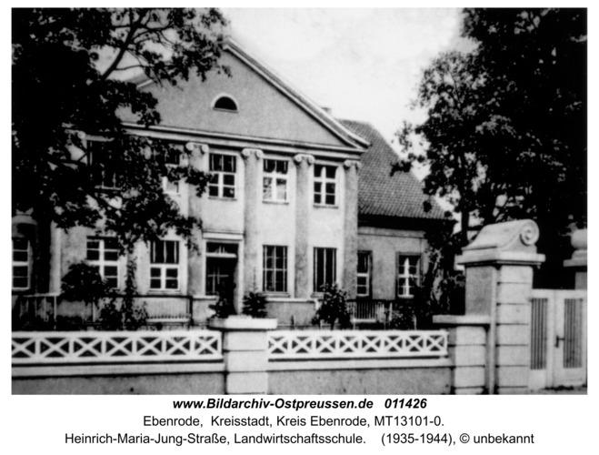 Ebenrode, Heinrich-Maria-Jung-Straße, Landwirtschaftsschule