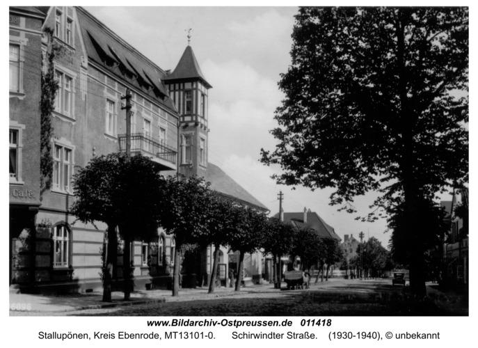 Stallupönen, Schirwindter Straße