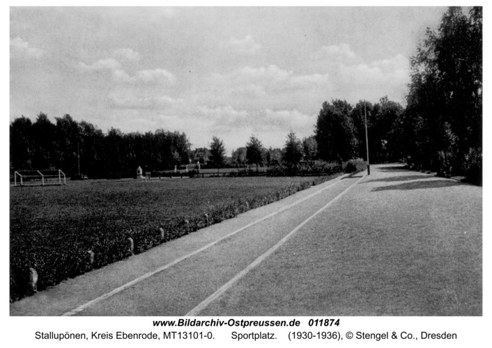 Stallupönen, Sportplatz
