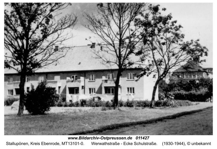 Stallupönen, Werwathstraße - Ecke Schulstraße