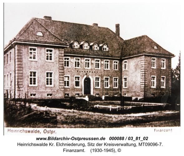 Heinrichswalde, Finanzamt