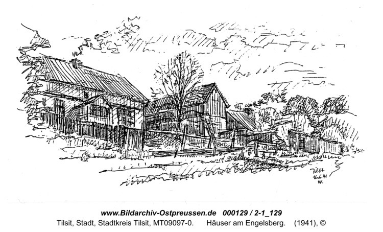 Tilsit, Häuser am Engelsberg