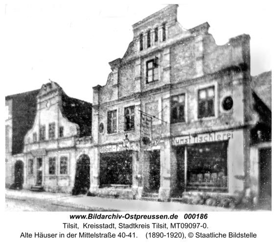 Tilsit, Alte Häuser in der Mittelstraße 40-41