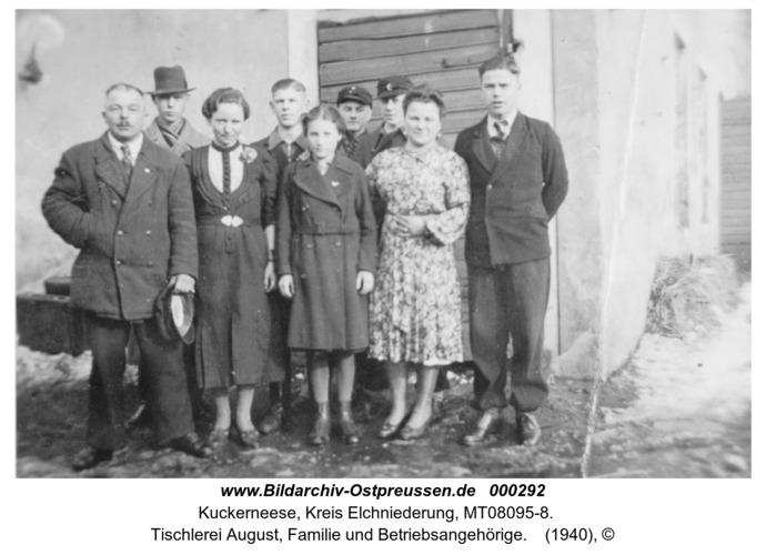 Kuckerneese, Tischlerei August, Familie und Betriebsangehörige