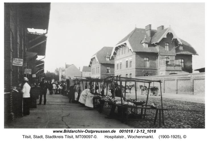 Tilsit, Hospitalstr., Wochenmarkt