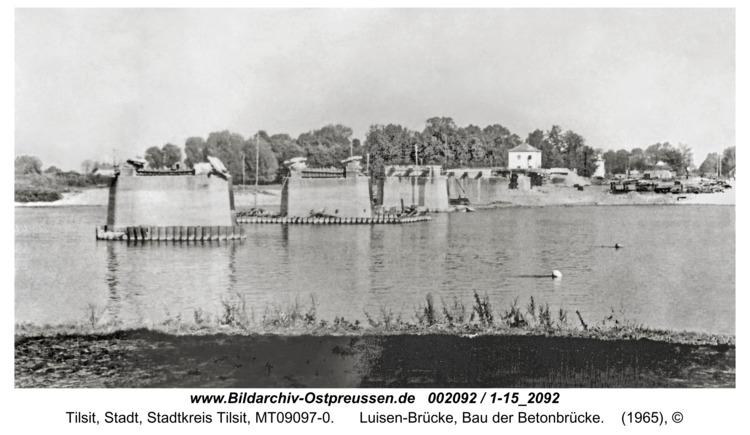 Tilsit, Luisen-Brücke, Bau der Betonbrücke