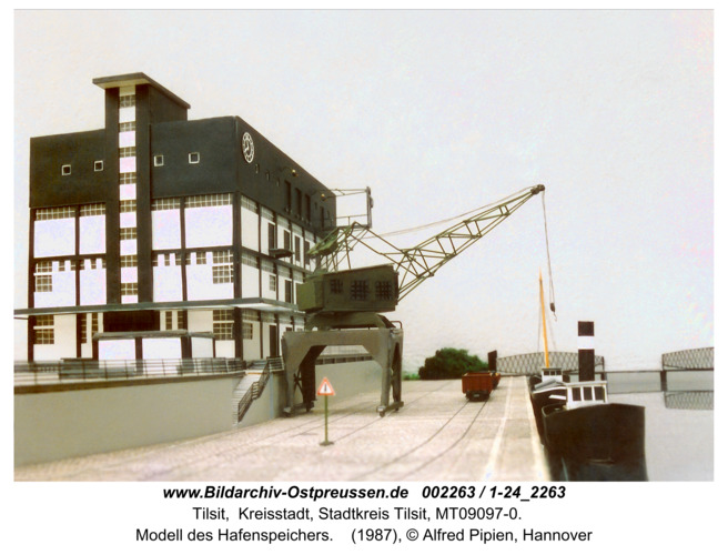 Tilsit, Modell des Hafenspeichers