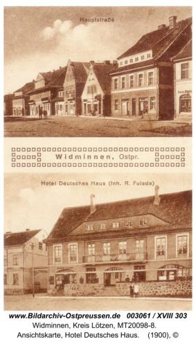 Widminnen, Ansichtskarte, Hotel Deutsches Haus