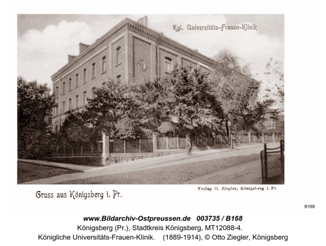 Königsberg, Königliche Universitäts-Frauen-Klinik