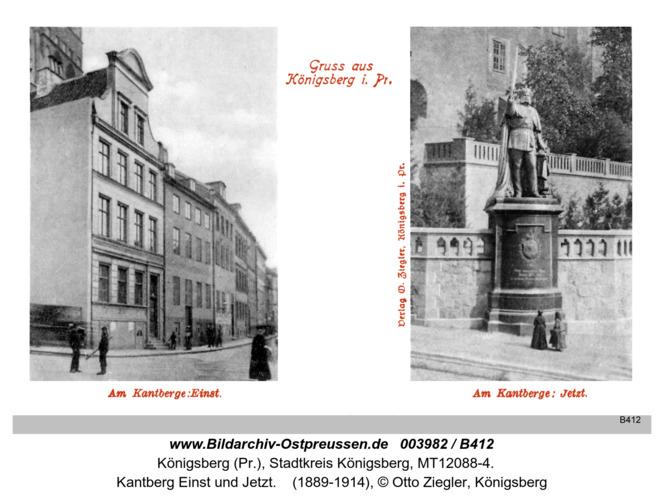 Königsberg, Kantberg Einst und Jetzt