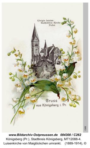 Königsberg, Luisenkirche von Maiglöckchen umrankt