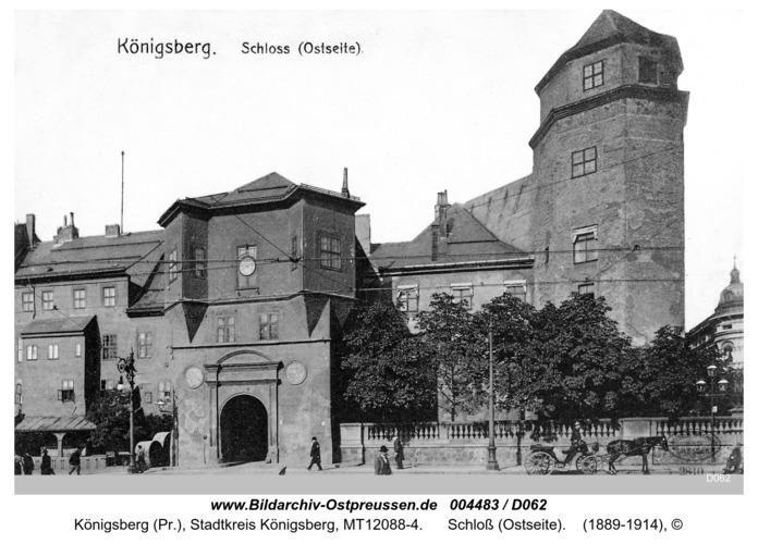 Königsberg, Schloß (Ostseite)