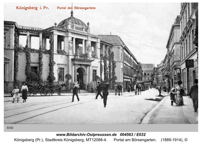 Königsberg, Portal am Börsengarten