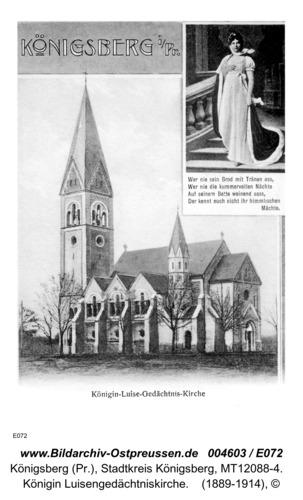 Königsberg, Königin Luisengedächtniskirche