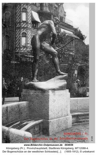 Königsberg, Der Bogenschütze an der Schlossteichpromenade