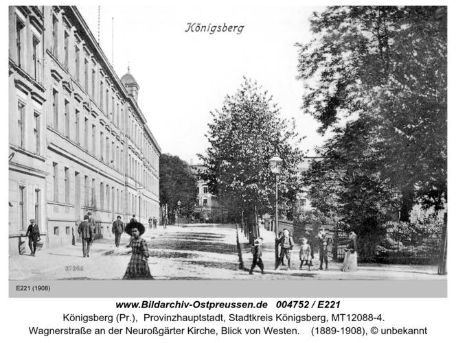 Königsberg, Wagnerstraße an der Neuroßgärter Kirche