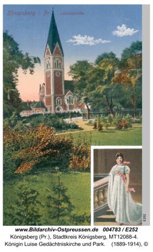 Königsberg, Königin Luise Gedächtniskirche und Park