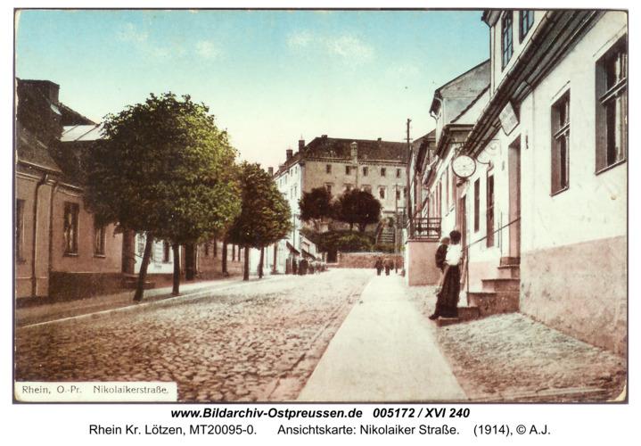 Rhein, Ansichtskarte: Nikolaiker Straße