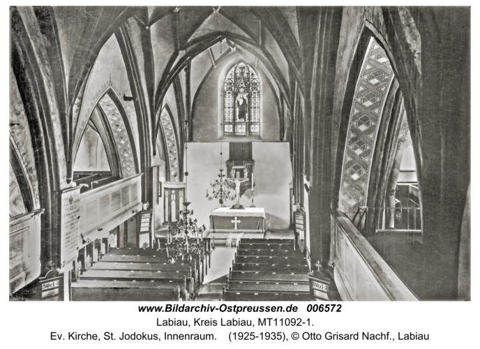 Labiau, Ev. Kirche, St. Jodokus, Innenraum