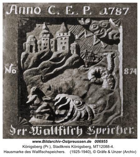 Königsberg, Hausmarke des Wallfischspeichers