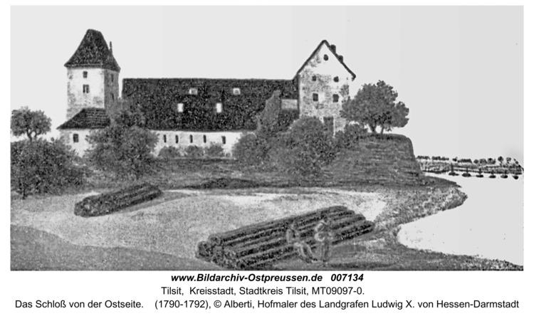 Tilsit, Das Schloß von der Ostseite