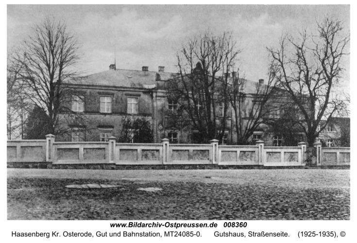 Haasenberg, Gutshaus, Straßenseite