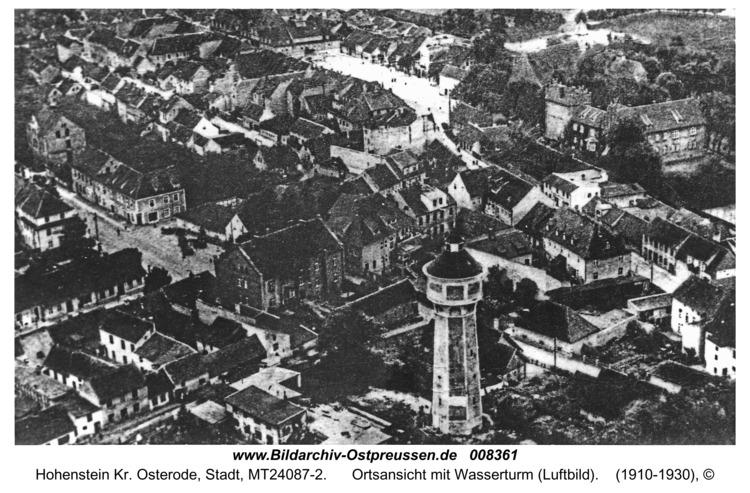 Hohenstein Kr. Osterode, Ortsansicht mit Wasserturm (Luftbild)