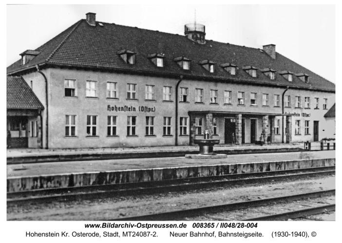 Hohenstein Kr. Osterode, Neuer Bahnhof, Bahnsteigseite