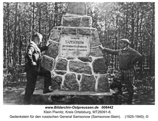 Klein Piwnitz,  Gedenkstein für den russischen General Samsonow (Samsonow-Stein)