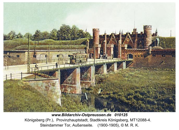 Königsberg (Pr.), Steindammer Tor, Außenseite