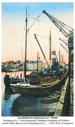 Königsberg, Innerer Hafen, Blick von der Kranstraße auf die Dominsel