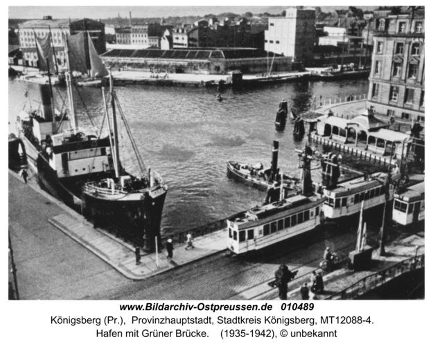 Königsberg, Hafen mit Grüner Brücke