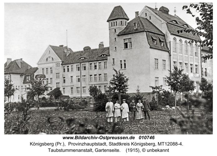 Königsberg, Taubstummenanstalt, Gartenseite