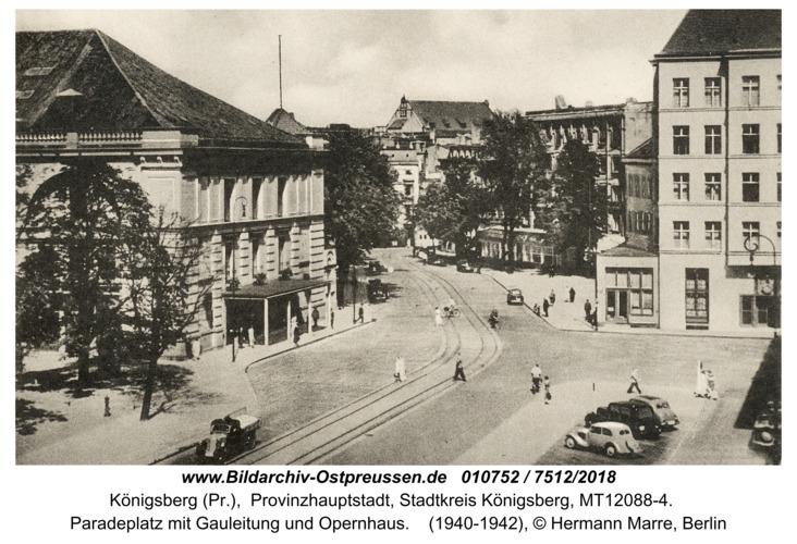 Königsberg, Paradeplatz mit Gauleitung und Opernhaus